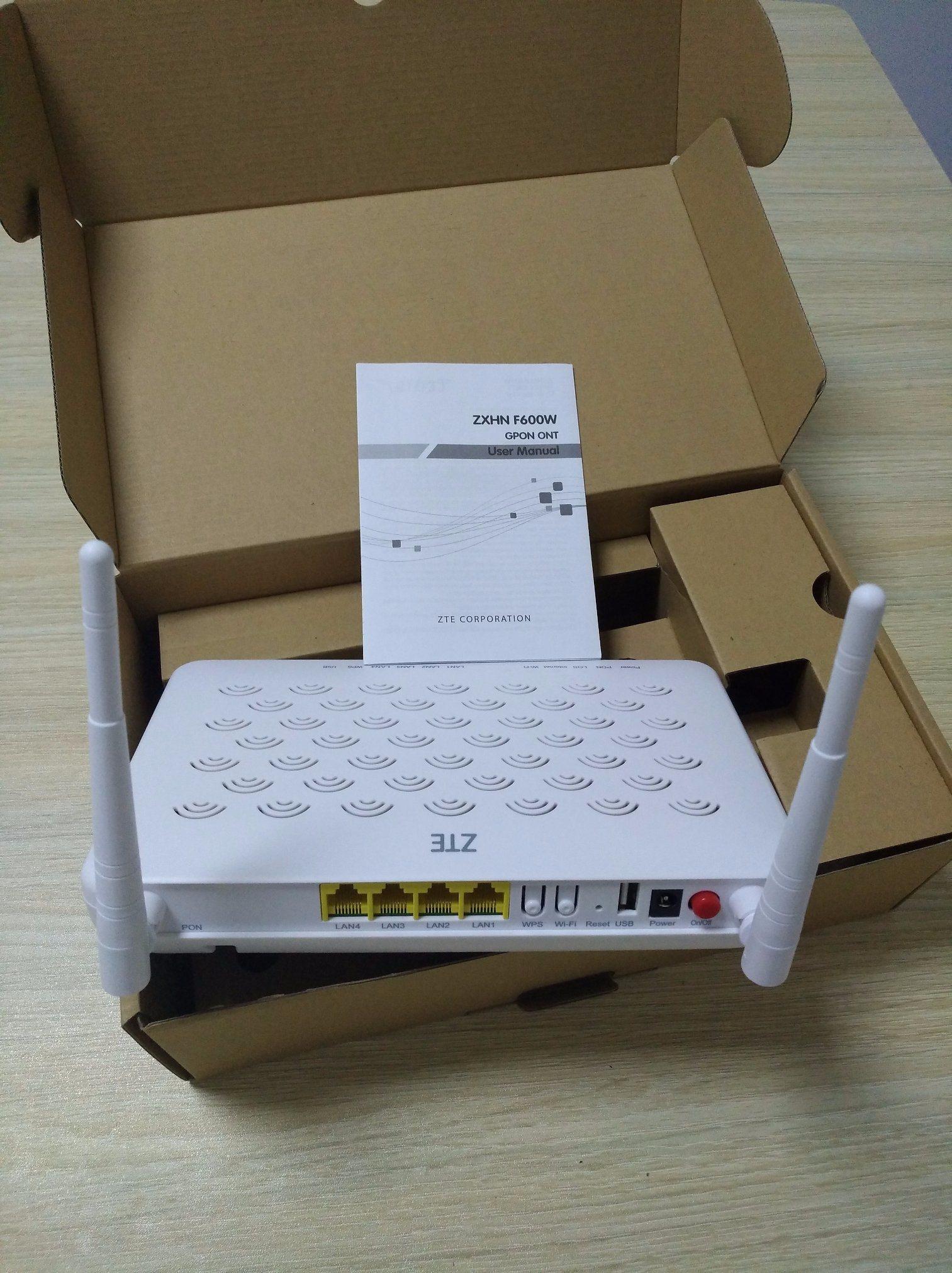 [Hot Item] ONU F600W 4ge and WiFi Gpon ONU with External Entenna FTTH Gpon  Ont Modem for Zte Zxhn F600W Zte F660