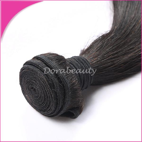 China Natural Straight Mongolia Human Hair Virgin Pure Hair Weave