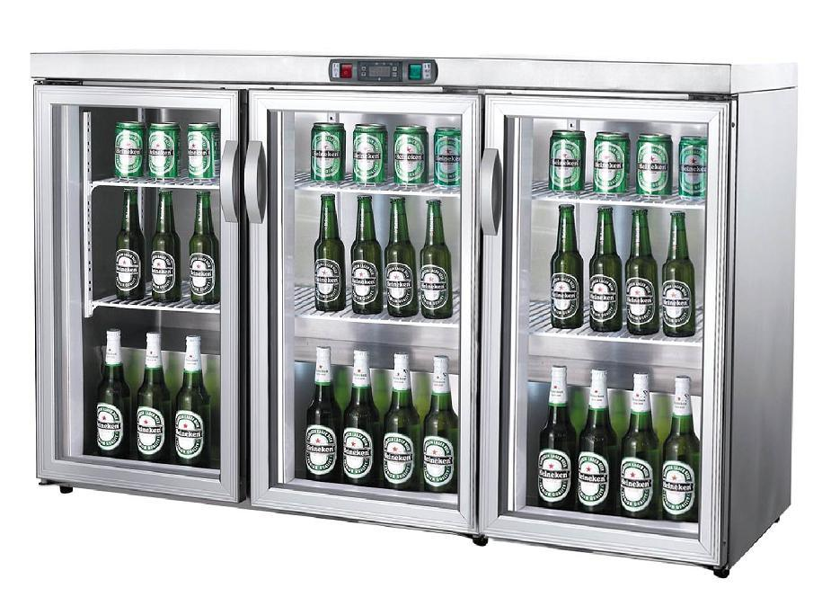 China Commercial Glass Door Upright Beer Refrigerator Mini Freezer Fridge