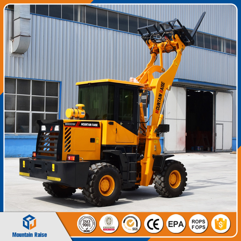 Hydraulic Pallet Fork 1500kg Wheel Loader with Big Wheels pictures & photos