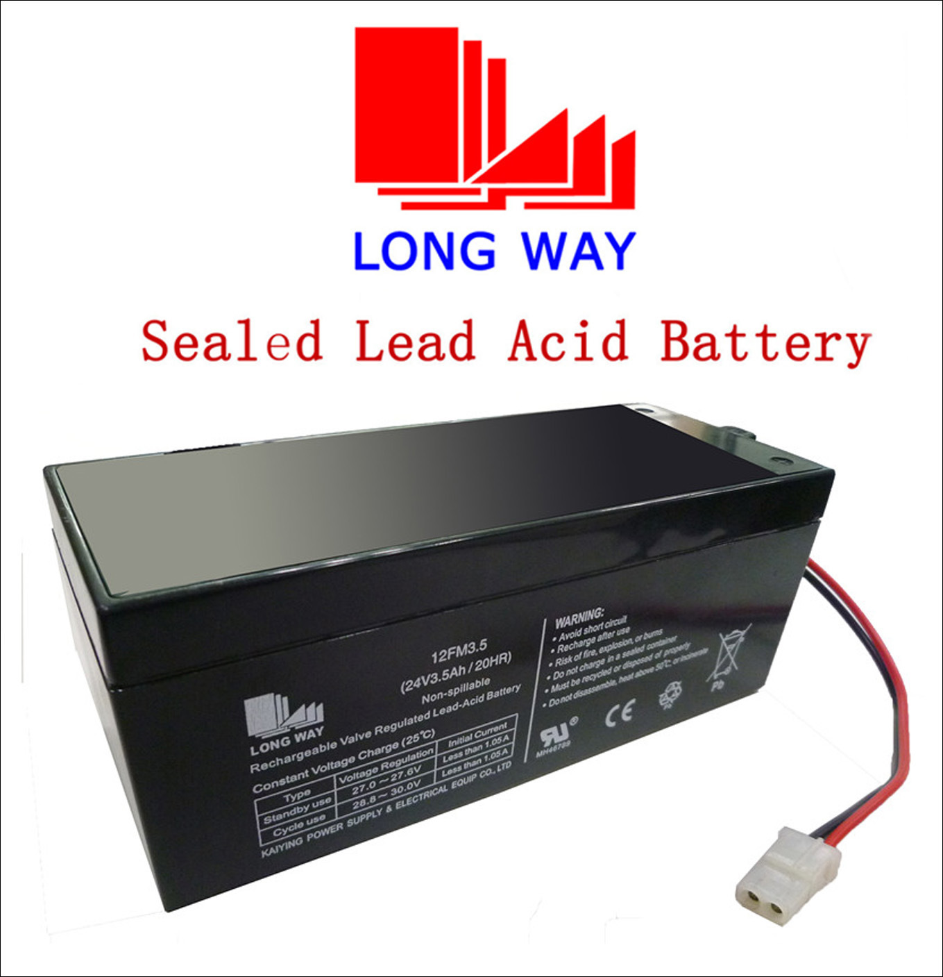 24V Rechargeable Sound Equipment Sealed Lead Acid UPS Battery 3.5ah