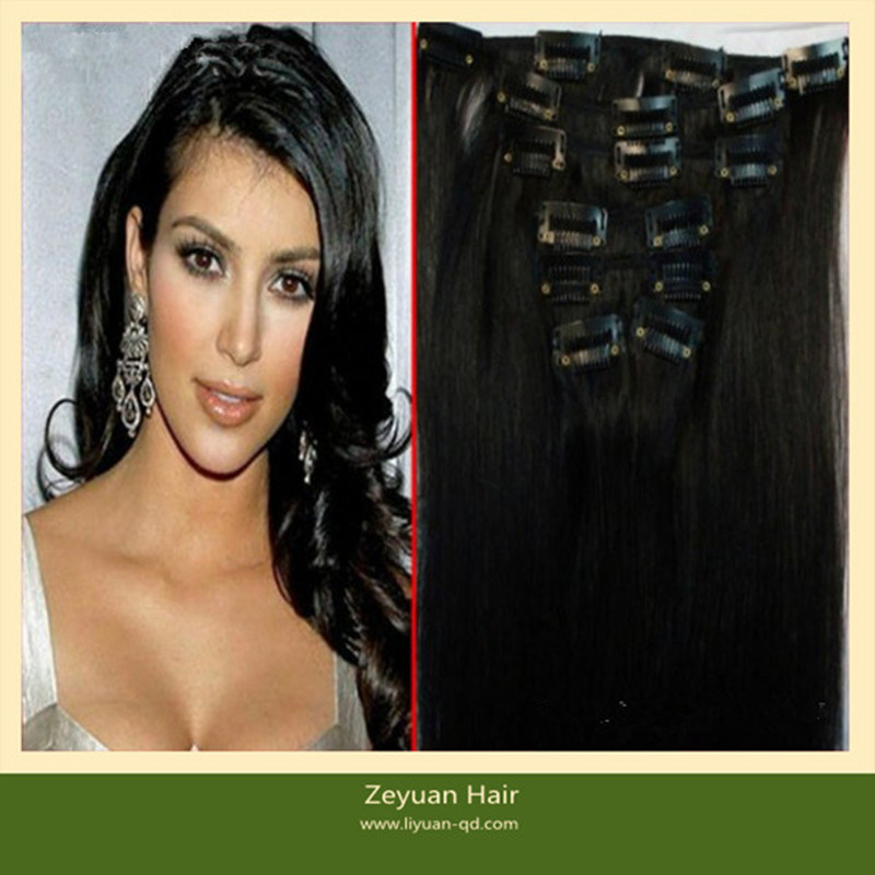 China Clip In Indian Hair Extensions For Black Women C 04 China