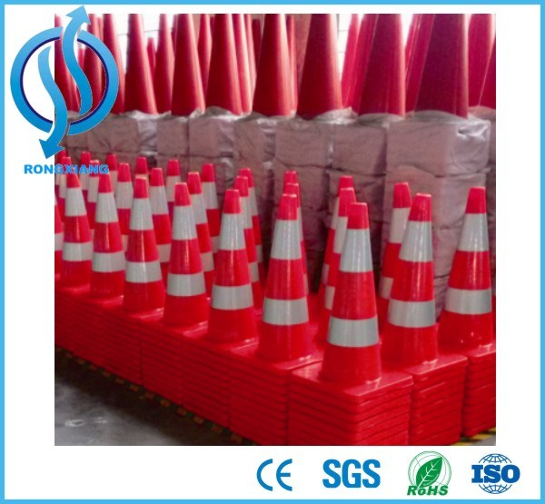 90cm High PVC Traffic Cone with High Quality Reflective Collar pictures & photos