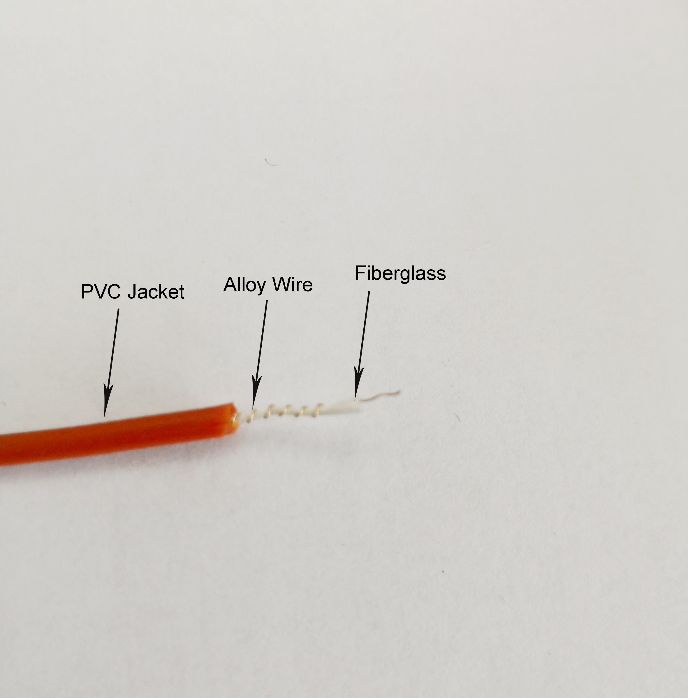 China Fiberglass Heating Wire PVC Insulation Heating Alloy Wire Made ...