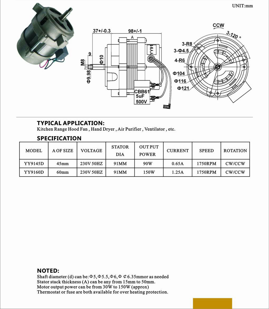 Electric AC Engine for Electric Fan Parts Electric Fan