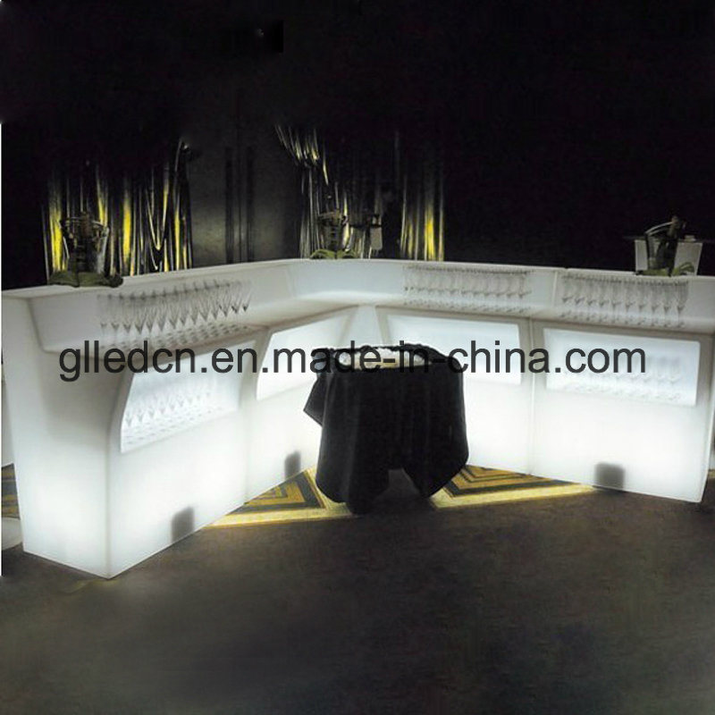 Glowing Plastic LED Bar Restaurant Counters for Sale pictures & photos