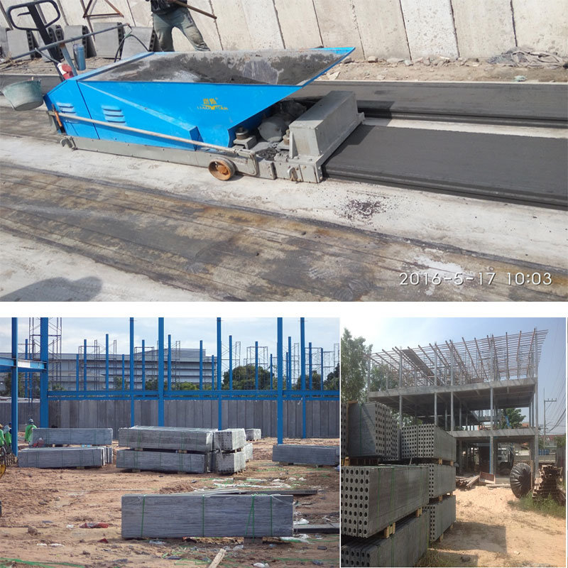 Light Weight Concrete Hollow Core Wall Panel Machine