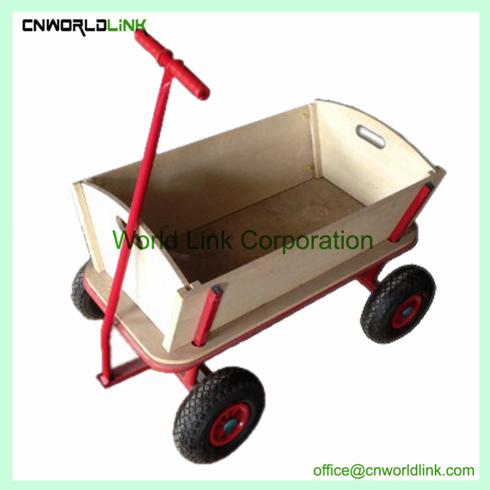 China Four Wheels Wooden Garden Kids Wagon Loadmaster for Playing ...