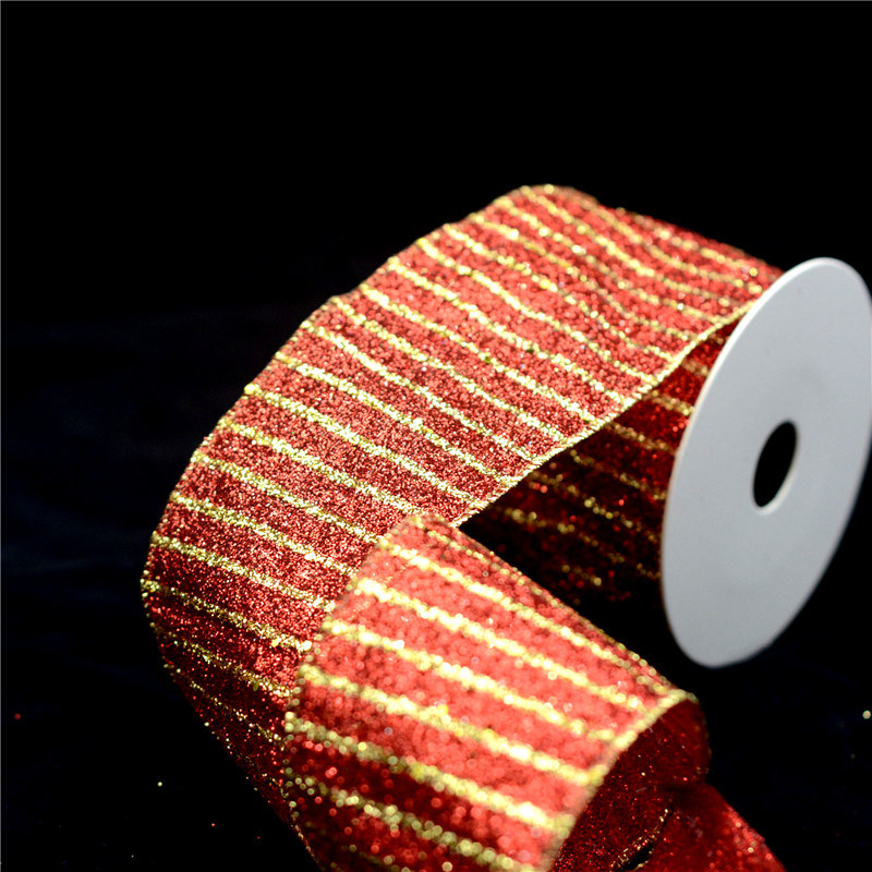 2 Roll Organza Wired Edge Christmas Ribbon Packaging Decoration Flowers Gift