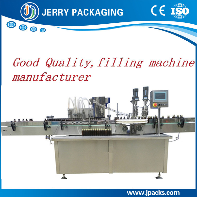Automatic Vitamin Syringe Liquid Glass Bottle Filling & Capping Machine