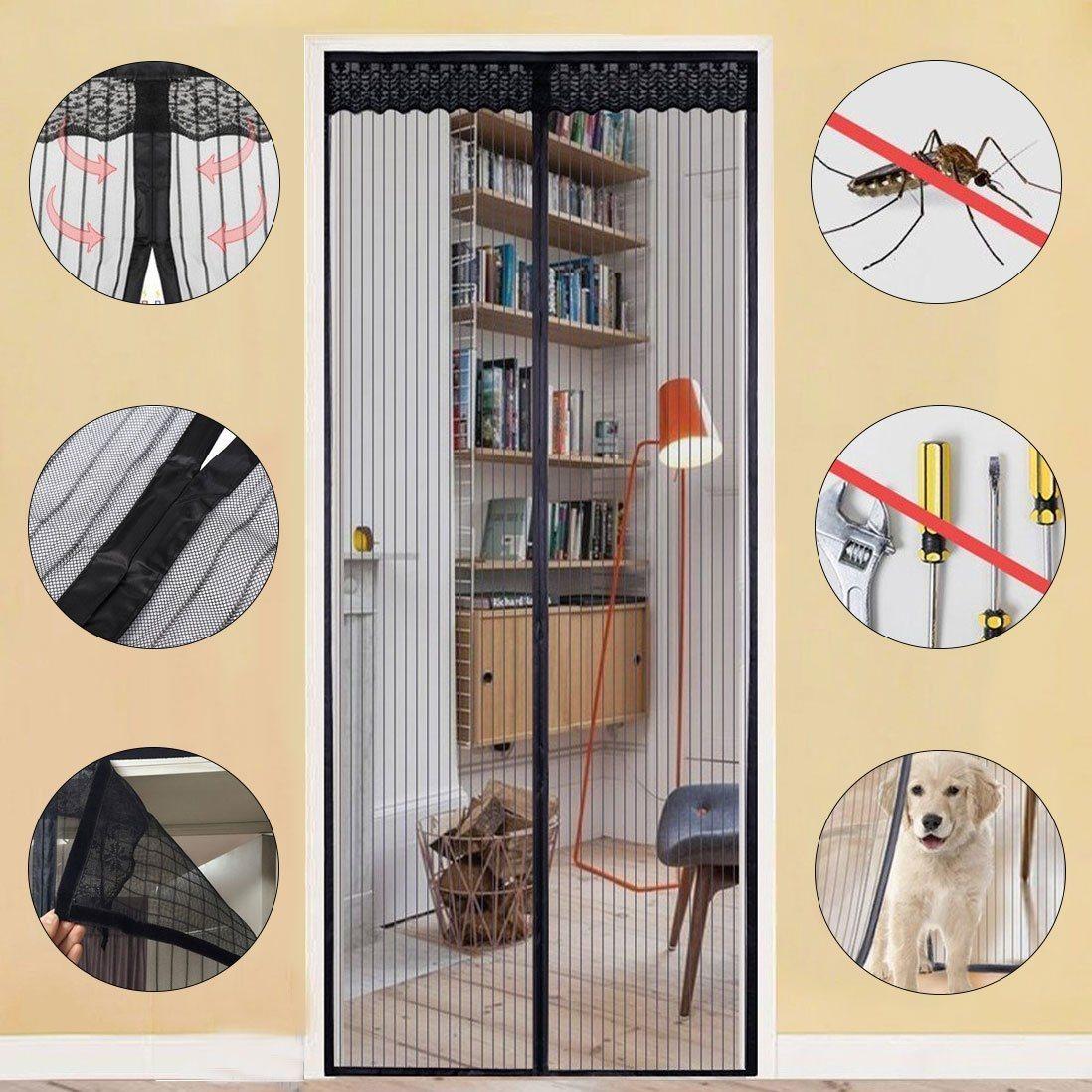 China Magnetic Screen Door For Double Doors China Magic Mesh Door