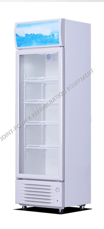 China Single Glass Door Merchandiser Drinks Chiller Showcase Beer Cooler Display Chest Freezer