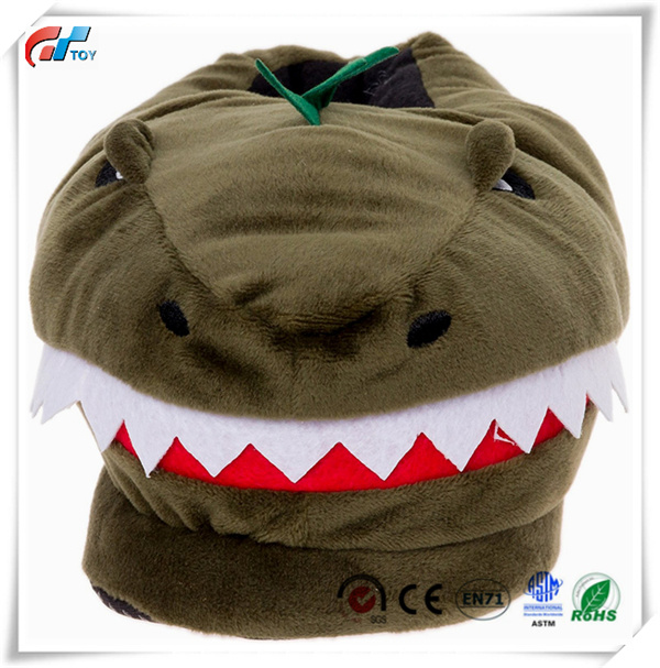 8aaa243748cb China Plush T-Rex Slippers Memory Foam Support by Dinosaur Slippers ...
