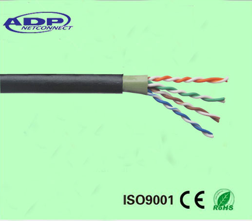 Outdoor Cat5e Cable Double PVC PE Jacket