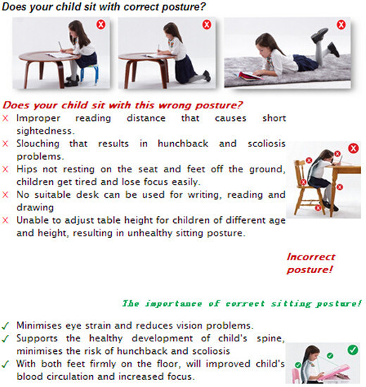 Colorful Ergonomic Children Furniture Kids Bedroom Furniture Ergonomic Table pictures & photos