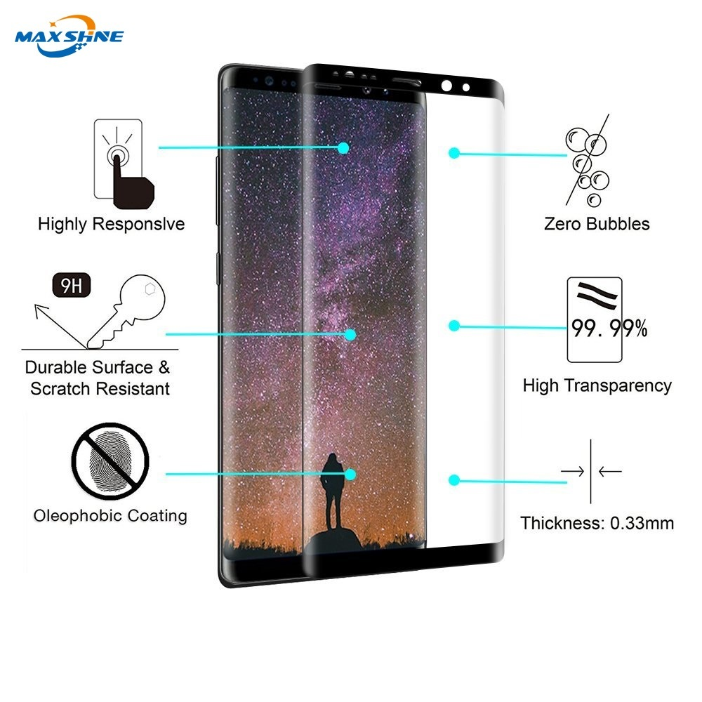 China Case Friendly Screen Guard Protector For Samsung Galaxy Tempered Glass Premium Note 8 Good Touchscreen Clear Bening S8 S9 Plus High Quality Protective Film
