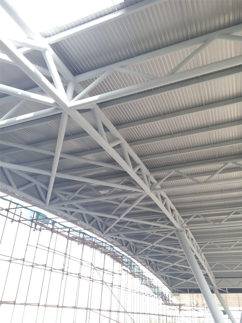 China Steel Structure Truss Tube Truss Space Frame