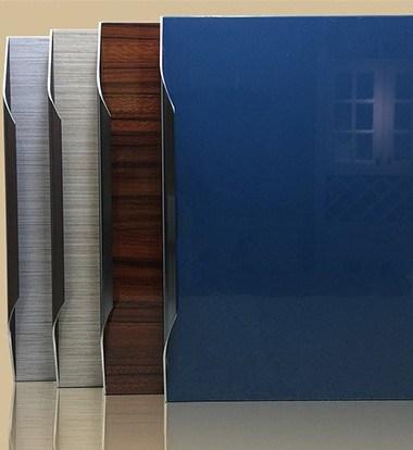 Gloss Acrylic Kitchen MDF Cabinet Doors Plank 18mm PVC Cabinet Door