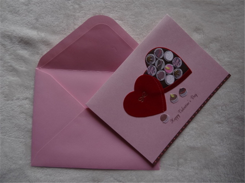 Handmade Decorated Greeting Card / Wholesale Christmas Greeting Card with Envelop