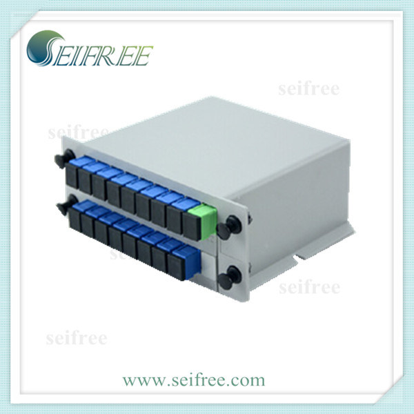 FTTH Install 1*16 PLC Fiber Optical Splitter with Single Mode