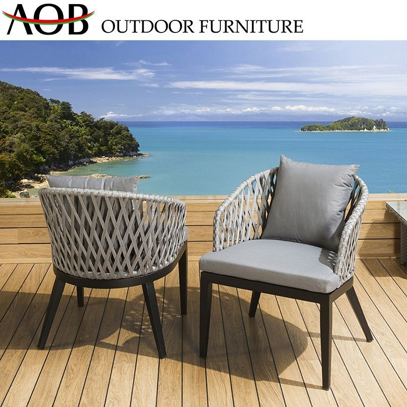 [Hot Item] Chinese Outdoor Garden Hotel Furniture Rope Woven Leisure  Balcony Beach Chair Outside Sets
