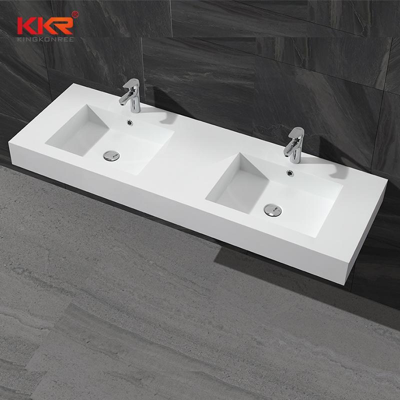 Bathroom Vanity Sink Double, Solid Surface Bathroom Sink