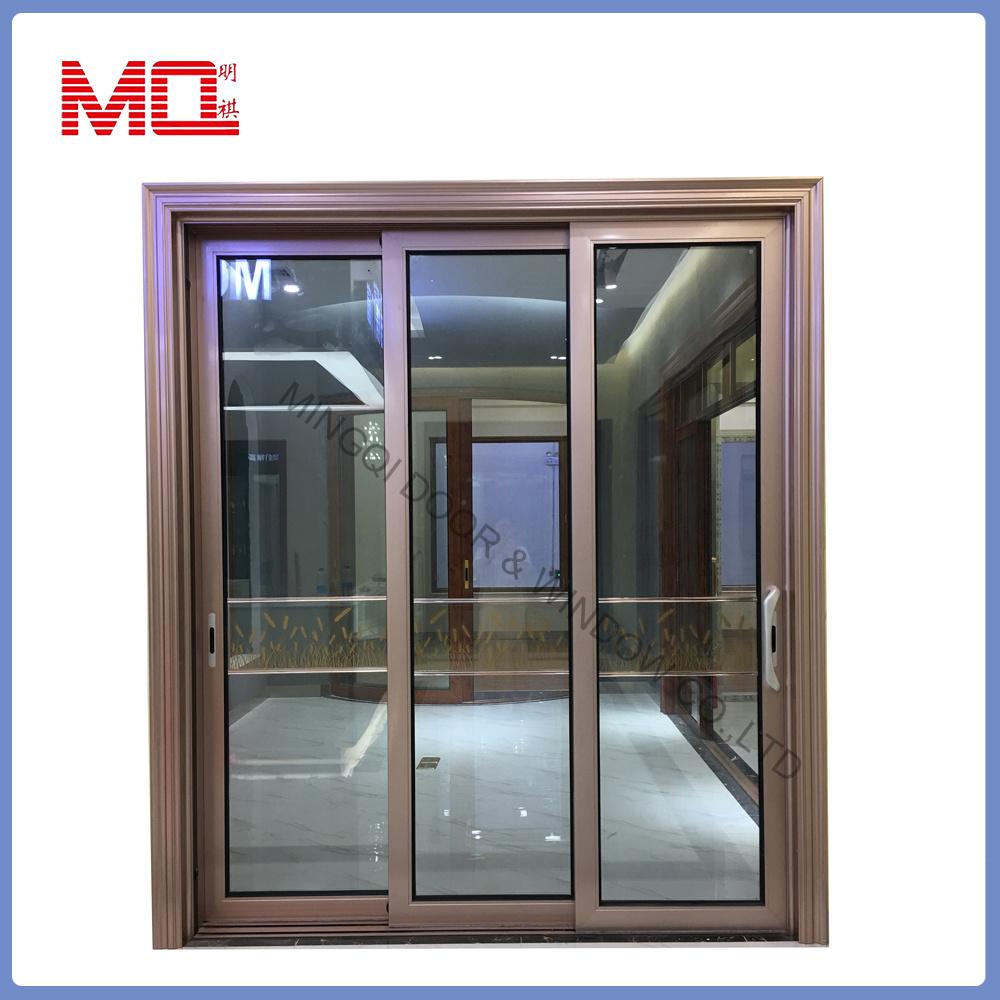 China Apartment Three Track Aluminium Sliding Glass Door China