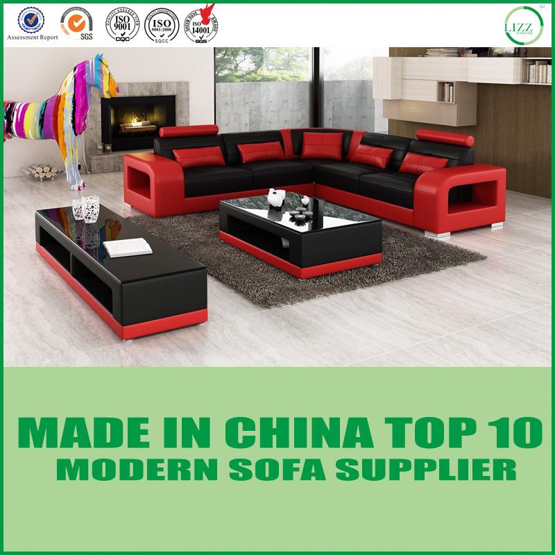 [Hot Item] Dubai Home Living Room Furniture Italian Sectional Leather Sofa
