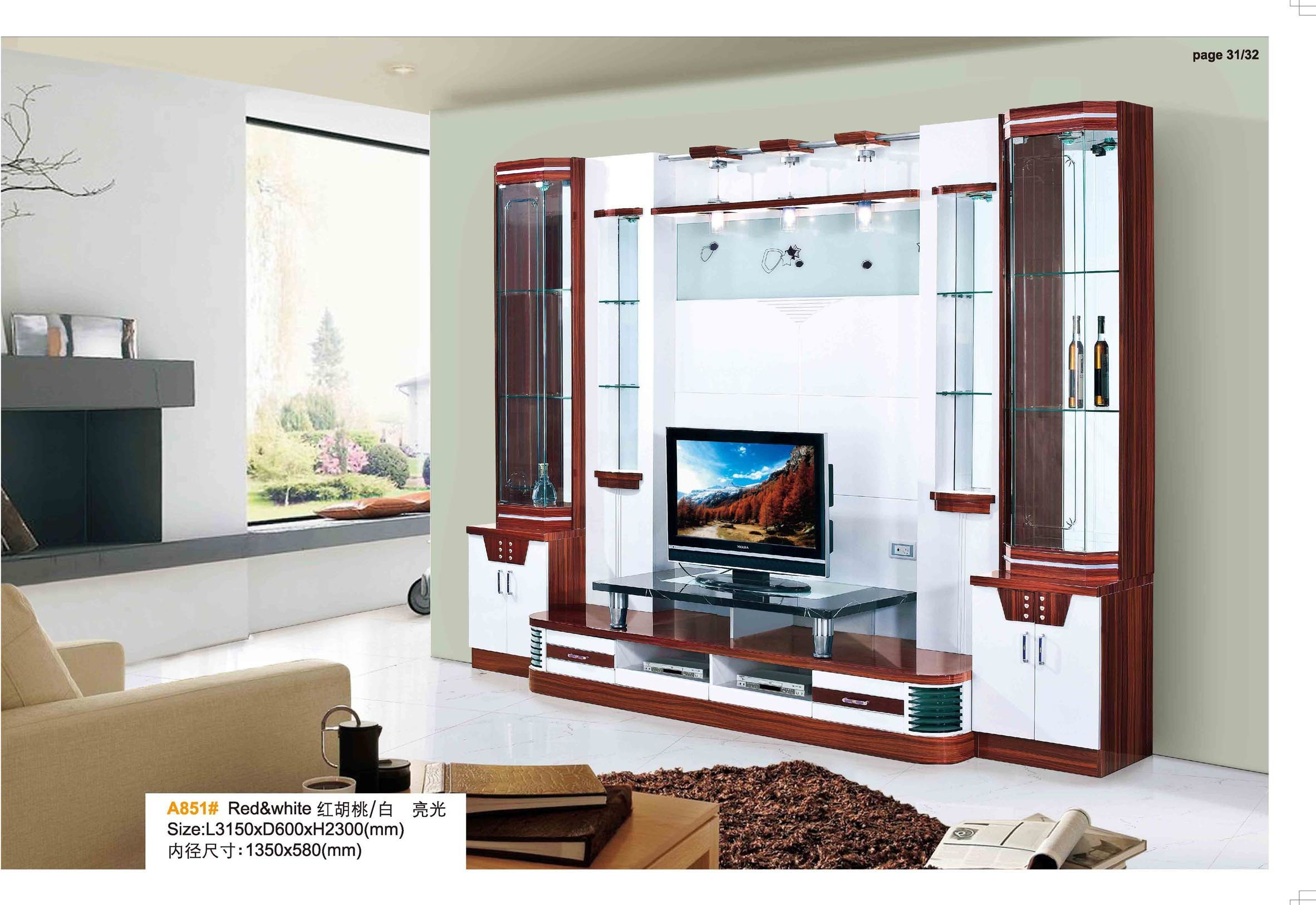 China High Gloss Living Room Furniture Wooden TV Cabinet Wall Unit   China  TV Wall Unit, TV Cabinet