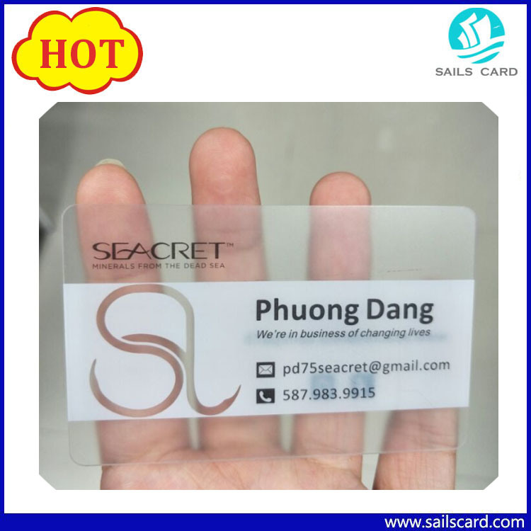 China Plastic Cards Transparent Clear Plastic Business Card Printing ...
