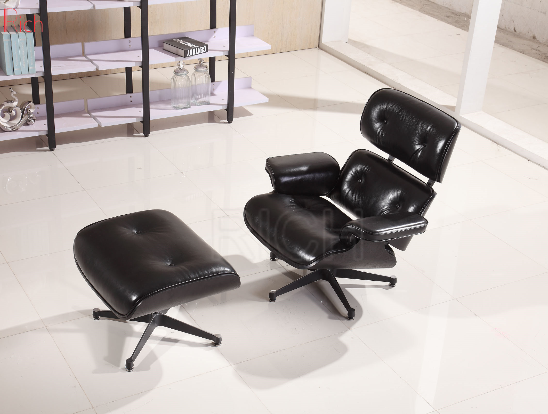 Vitra Lounge Chair Replica [hot item] replica black eames lounge chair with ottoman footstool hotel  living room chair vitra base