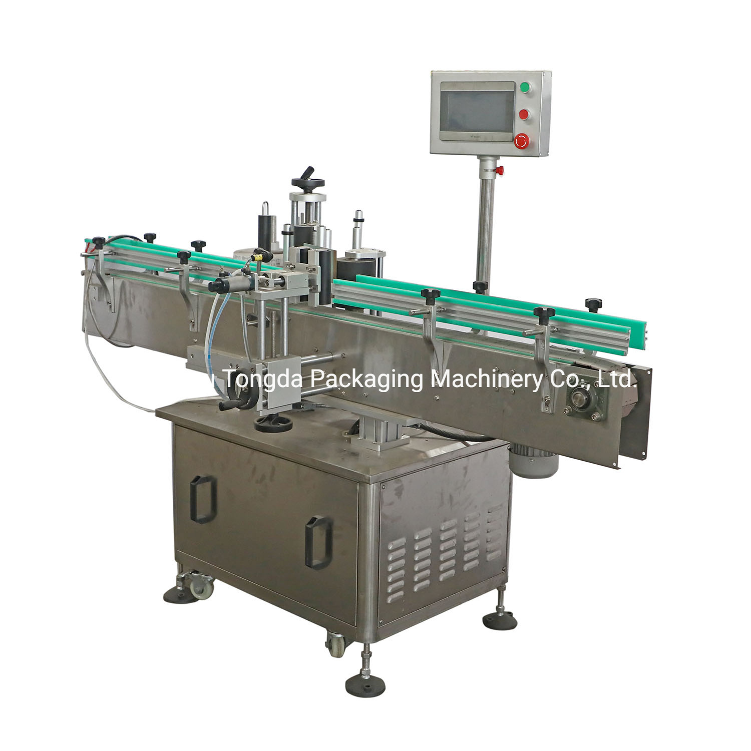 Linear Type Automatic Round Bottle Sticker Labeling Machine for Sale
