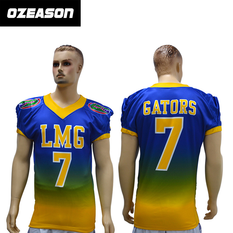 [Hot Item] Wholesale Custom American Football Jersey New Style Mutiple Color Option for Training