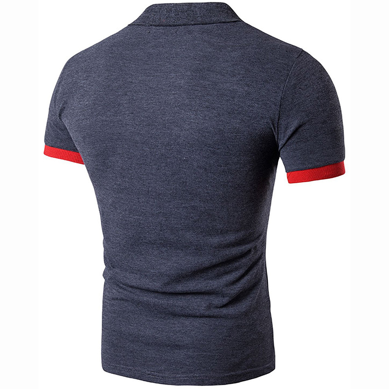 Customized Mens Short Sleeve Contrast Color Lapel Polo Tee Shirts pictures & photos