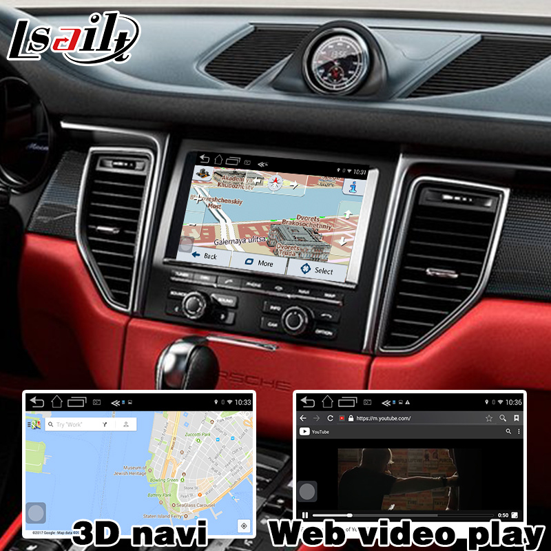 China GPS Navigation System Video Interface for Porsche Macan
