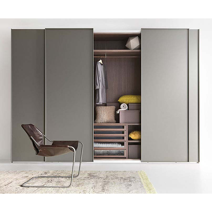 China Wholesale Bedroom Furniture Modern Design 4 Panel Sliding Door Wardrobe China Wardrobe Closet