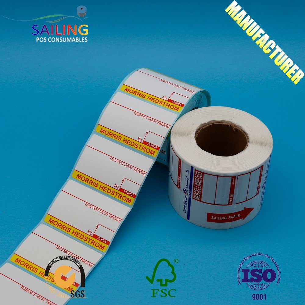 Packaging adhesive paper sticker printing custom printed label supermarket label sticker