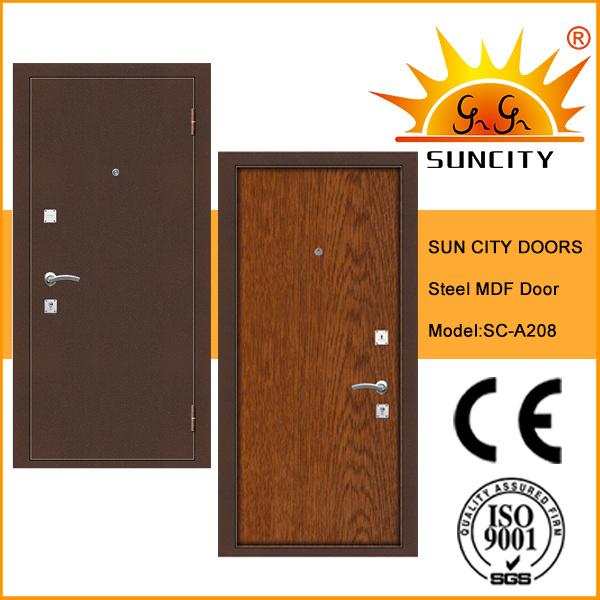 China Modern Wooden Mdf Interior Steel Security Door Sc A208