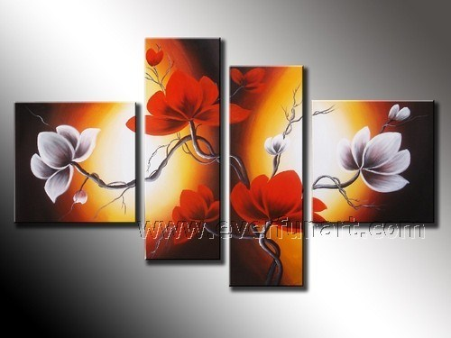 China Lotus Flower Canvas Art Wter Lily Oil Painting Fl4 113
