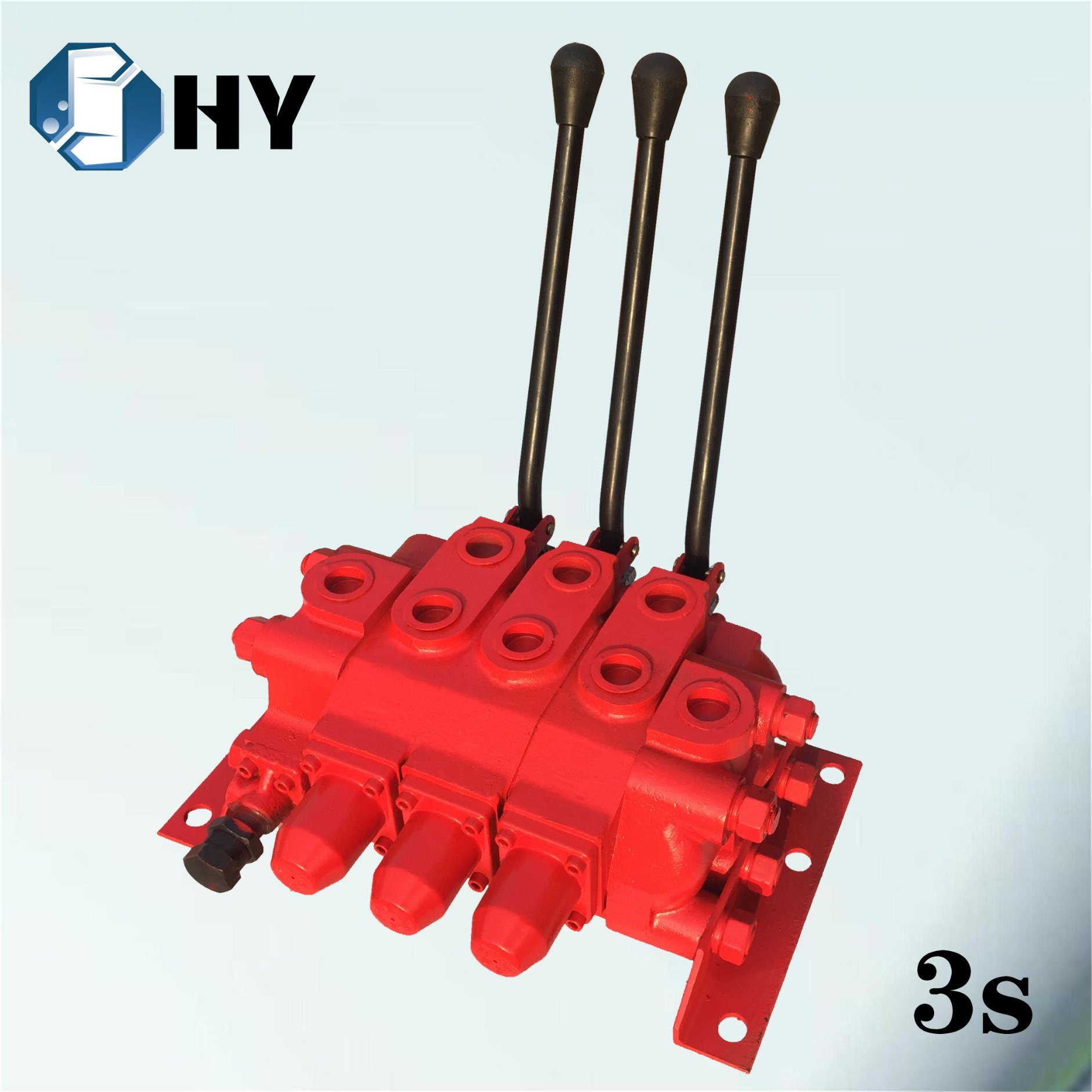 [Hot Item] Throttle valve Joystick valve 3 spool lever sections control  valve