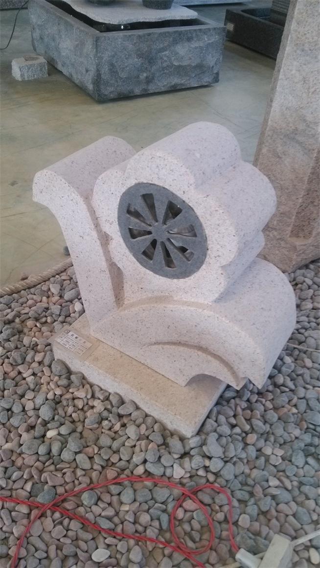 [Hot Item] Stone Finish Solar Bollard Light