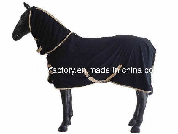 Polar Fleece Cooler Horse Blanket Black