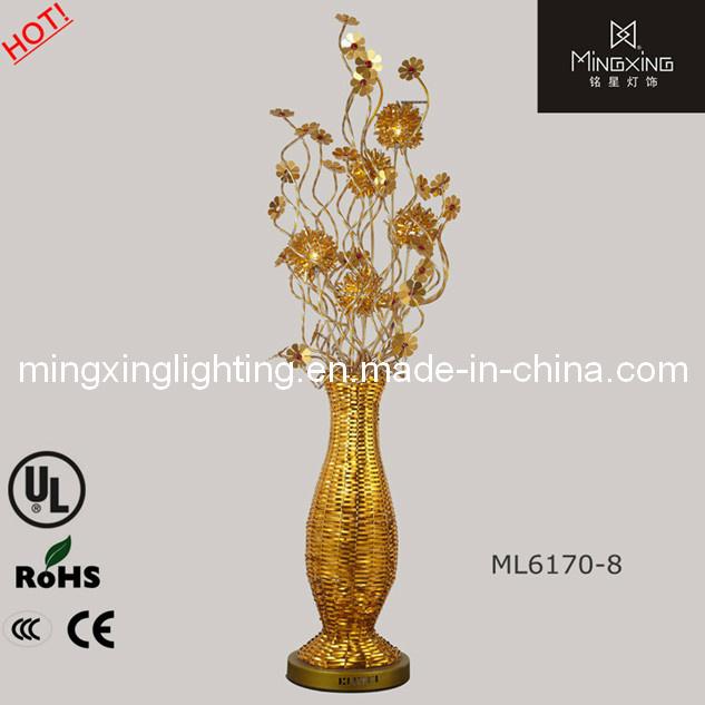 Silver Flower Vase Floor Standing Lamp, Flower Vase Floor Lamp