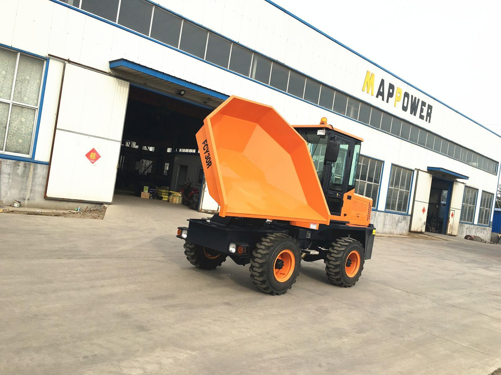 4X4 3ton Swivel Hydraulic Site Dumper pictures & photos