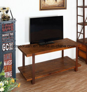 [Hot Item] European Creative Real Wood Double TV Ark Home Sitting Room  Fashion, Wrought Iron Audio-Visual Cabinet Vintage Store Content Ark TV