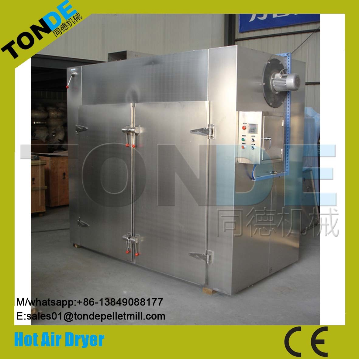 Industrial Hot Air Recycling Fish Food Drying Machine pictures & photos