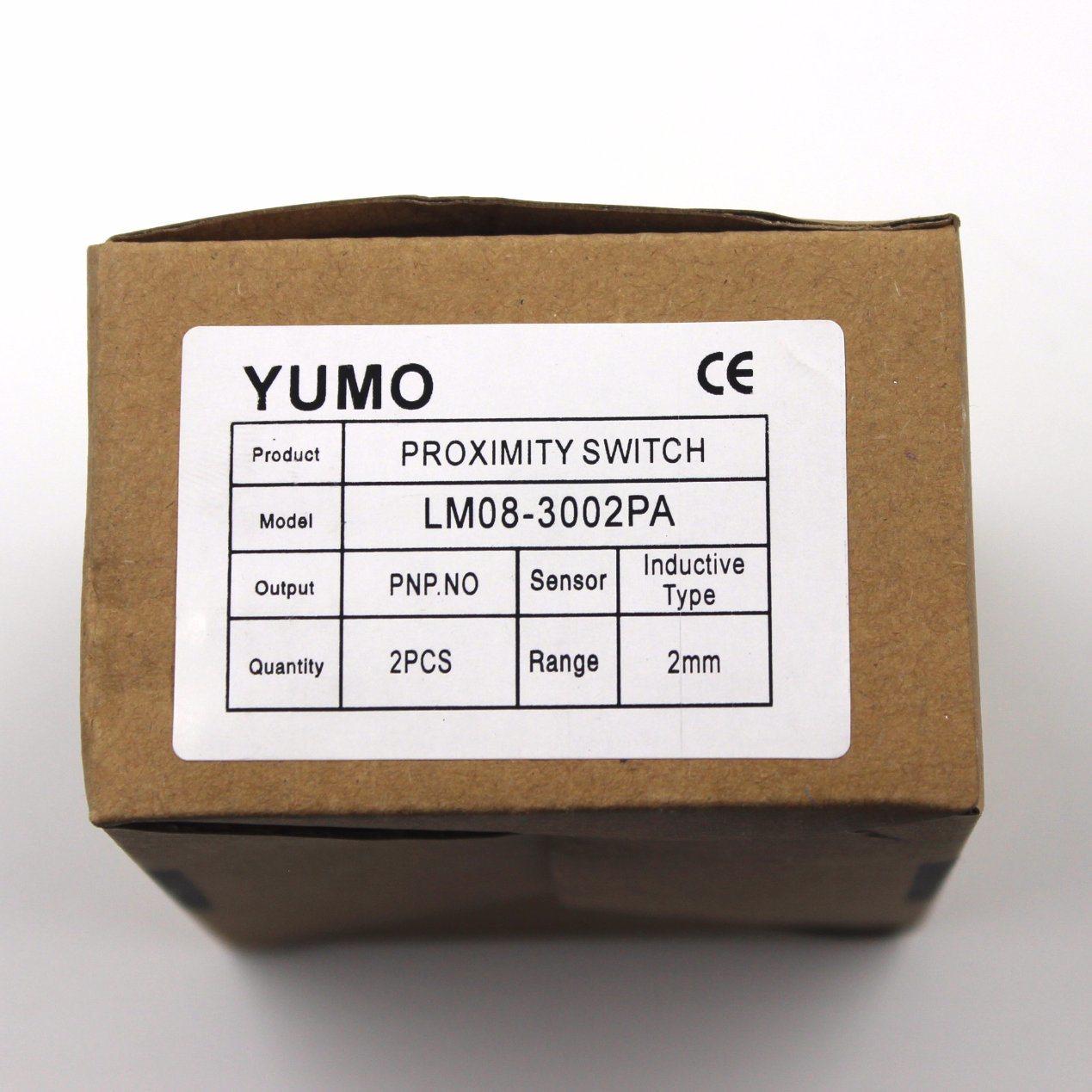 China Yumo Lm08 3002pa Proximity Switch Optical Inductive Npn Type Dc Pnp Sensor Capacitive