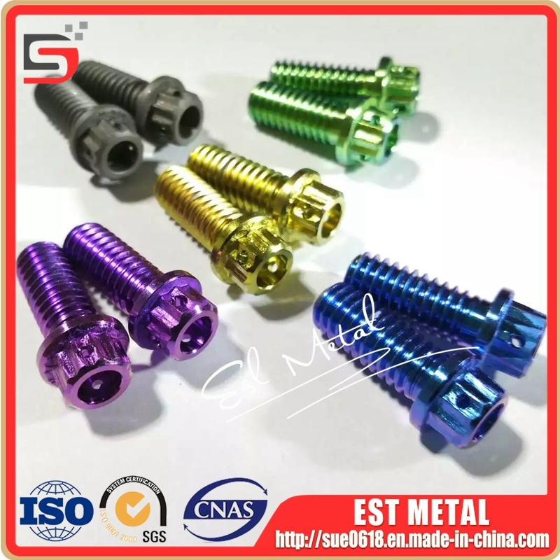 China Customize Gr5 M8 Hex Head Titanium Bolt Motorcycle Parts