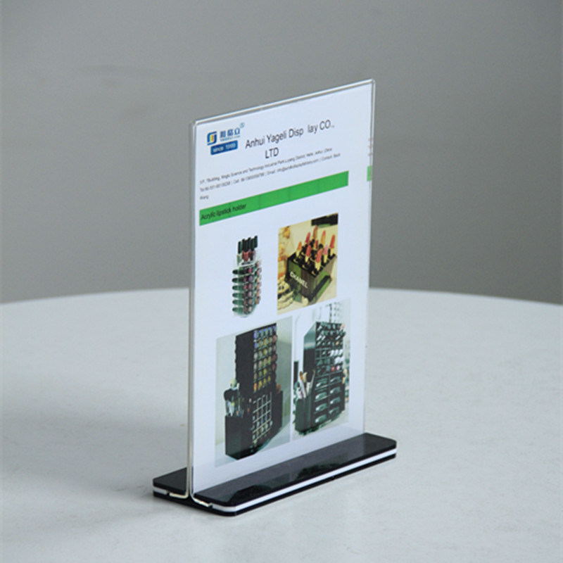 China L Shaped Tabletop A A A A Acrylic Sign Holder Display For - Restaurant table top sign holders