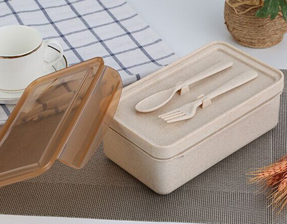 Wheat Straw Outdoor Storage Box Food Storage Box Lunch Containers